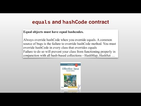Equals and hashcode contract