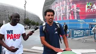 PSG le capitaine  Marquinhos ,je salue les supporters du PSG au Senegal et le public senegalais.