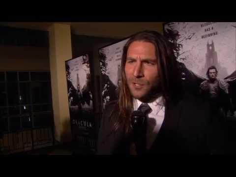 """Dracula Untold: Zach McGowan """"Shkelgim"""" Movie Premiere Interview"""