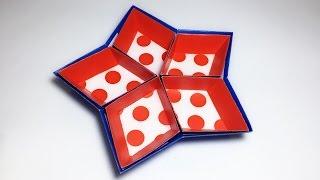 Star Tray Paper Polka Dots Paper Crafts tutorial !