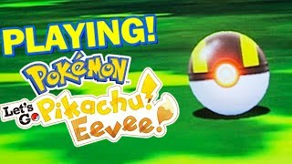 Pokemon Lets Go Pikachu & Lets Go Eevee GAMEPLAY AND THOUGHTS!
