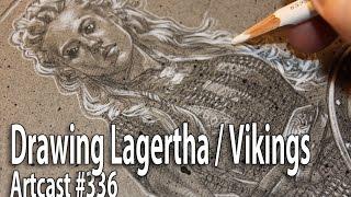 Drawing Lagertha / Viking Art