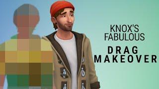 Sims 4 CAS Drag Townie Makeover - Knox Greenburg