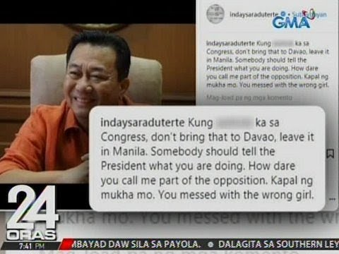 24 Oras: Davao City Mayor Sara Duterte, nagpatutsada vs House Speaker Pantaleon Alvarez