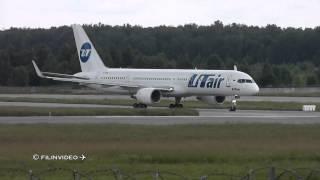 boeing 757 200 vp bpb vq bey utair takeoff from domodedovo