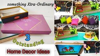 3 Extraordinary Home Decor Ideas Using Waste Sweet Boxes|| Mithai ke Dabbon Ka Behtarein use