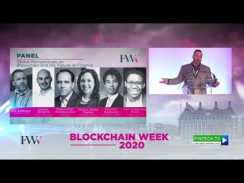 J.D. Salbego Moderates at the London Blockchain Summit 2020 - London