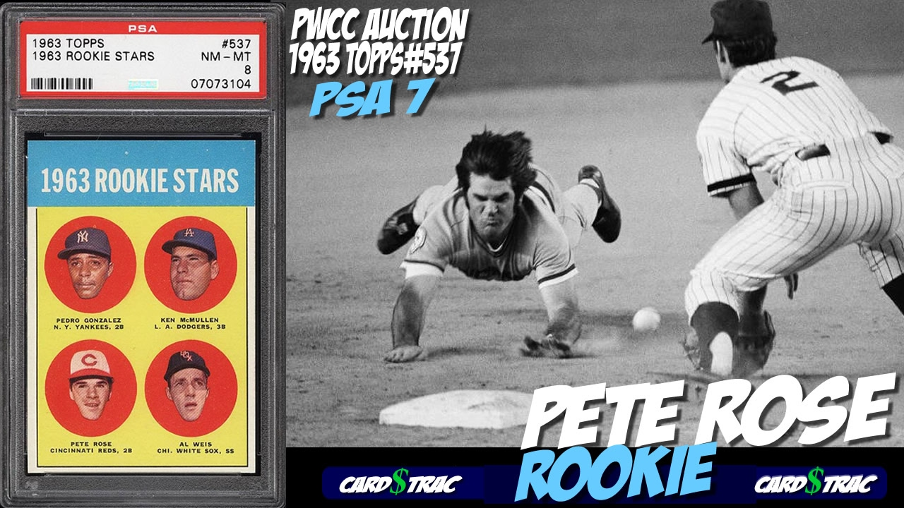 Sold 1963 Pete Rose Topps 514 Rookie Card For Sale Graded Psa 7