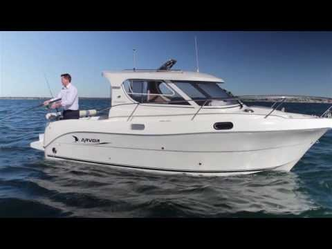 Arvor Weekender, Shaft drive | Turbo diesel | Semi displacement Hull | Family / Fishing boat
