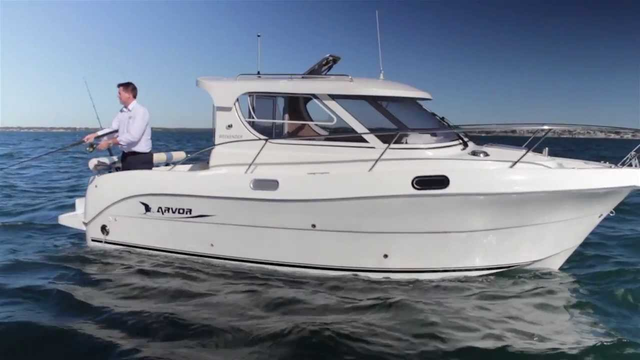 Arvor weekender shaft drive turbo diesel semi for Best boat for fishing and family fun