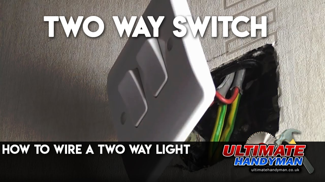 How To Wire A Two Way Light Youtube Wiring Three Switch With Power At The
