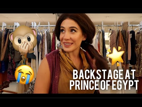 """Backstage at """"Prince of Egypt""""//The Life of A Theatre Actor"""