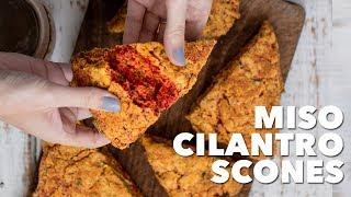 Vegan Miso Cilantro Scones | Two Market Girls