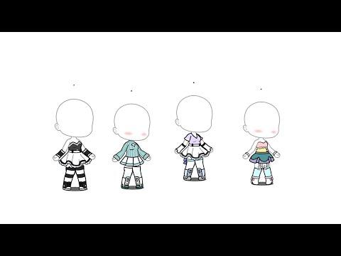 Ideas De Outfits Para Tus OCS!!👠👗👗(gacha Life)