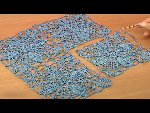 How to crochet Big Square Motif  Tutorial 20 Part 1 of 2