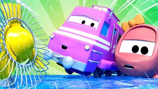 Поезд Трой -  Погодный поезд - Автомобильный Город