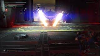 The Surge Chain Sword Vs Firebug Boss LU-74 ASTir Vibro-cutter Waste Disposal Central Processing