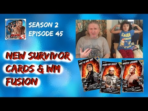 WWE SuperCard #2:45 : New Survivor Cards Plus WrestleMania Fusion