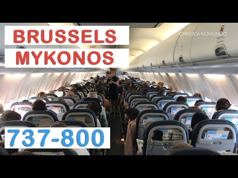 TUIFLY B737-800 BRUSSELS - MYKONOS FULL FLIGHT REVIEW