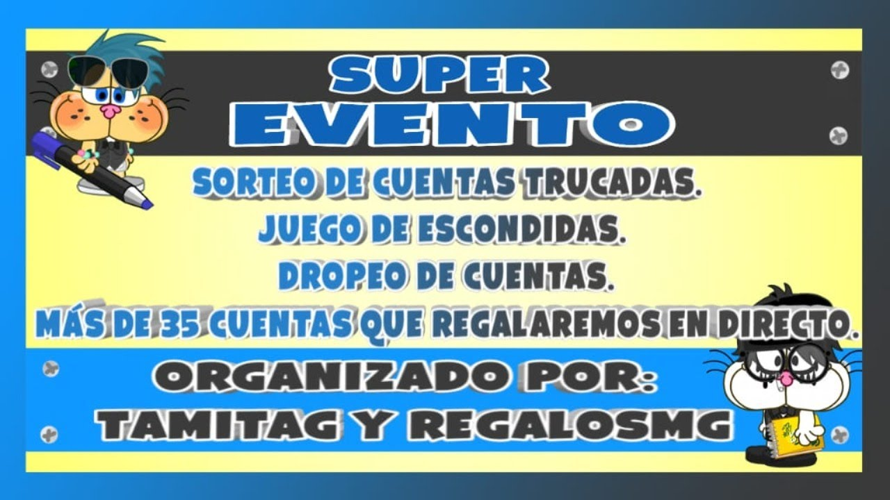 😲Super Eventos Regalando Cuentas Trucadas 🎃 // REGALOS MG