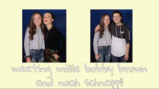 MET MILLIE BOBBY BROWN AND NOAH SCHNAPP!