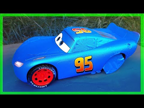 Lightning Mcqueen Blue Toys Paint Job
