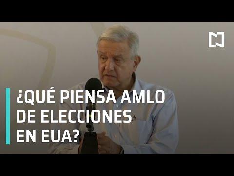 AMLO habla sobre el resultado de las elecciones en Estados Unidos 2020. - Las Noticias