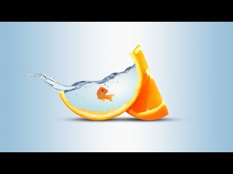 Water Fruit PhotoManipulation | Orange (click3d)