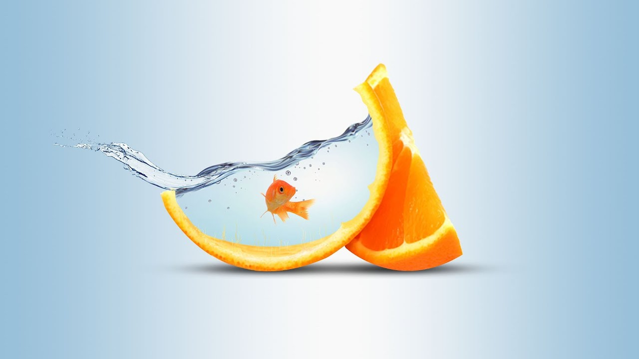 Water Fruit PhotoManipulation | Orange (click3d)