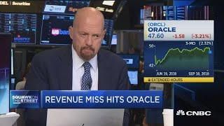 It's almost like analysts fear Oracle's Larry Ellison, says Jim Cramer