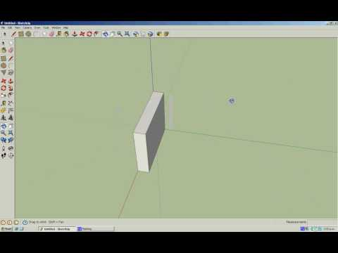 How to make a quarter pipe in Google Sketch up