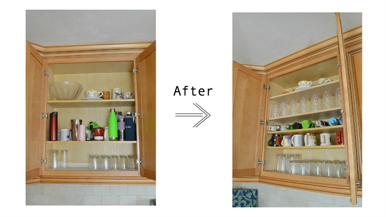 how to add shelves to existing kitchen cabinets and organize your new shelves youtube. Black Bedroom Furniture Sets. Home Design Ideas