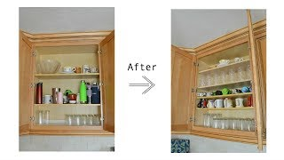 How to Add Shelves to Existing Kitchen Cabinets and Organize Your New Shelves
