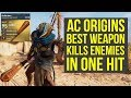 Assassin's Creed Origins Best Weapon KILLS ENEMIES IN ONE HIT (AC Origins Best Weapons)