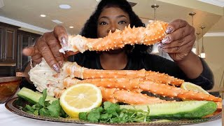 JUICY KING CRAB MUKBANG | BLOVE'S SMACKALICIOUS SPICY SAUCE