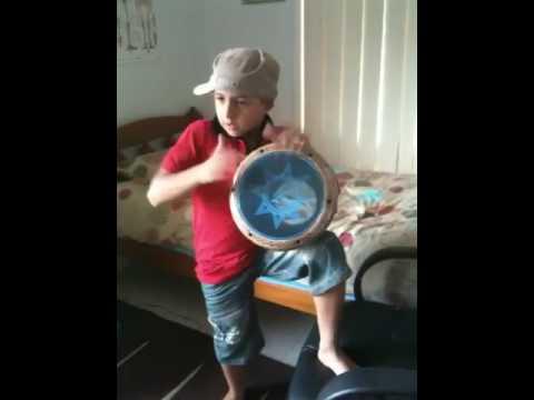 Lil bro playing lebo drum