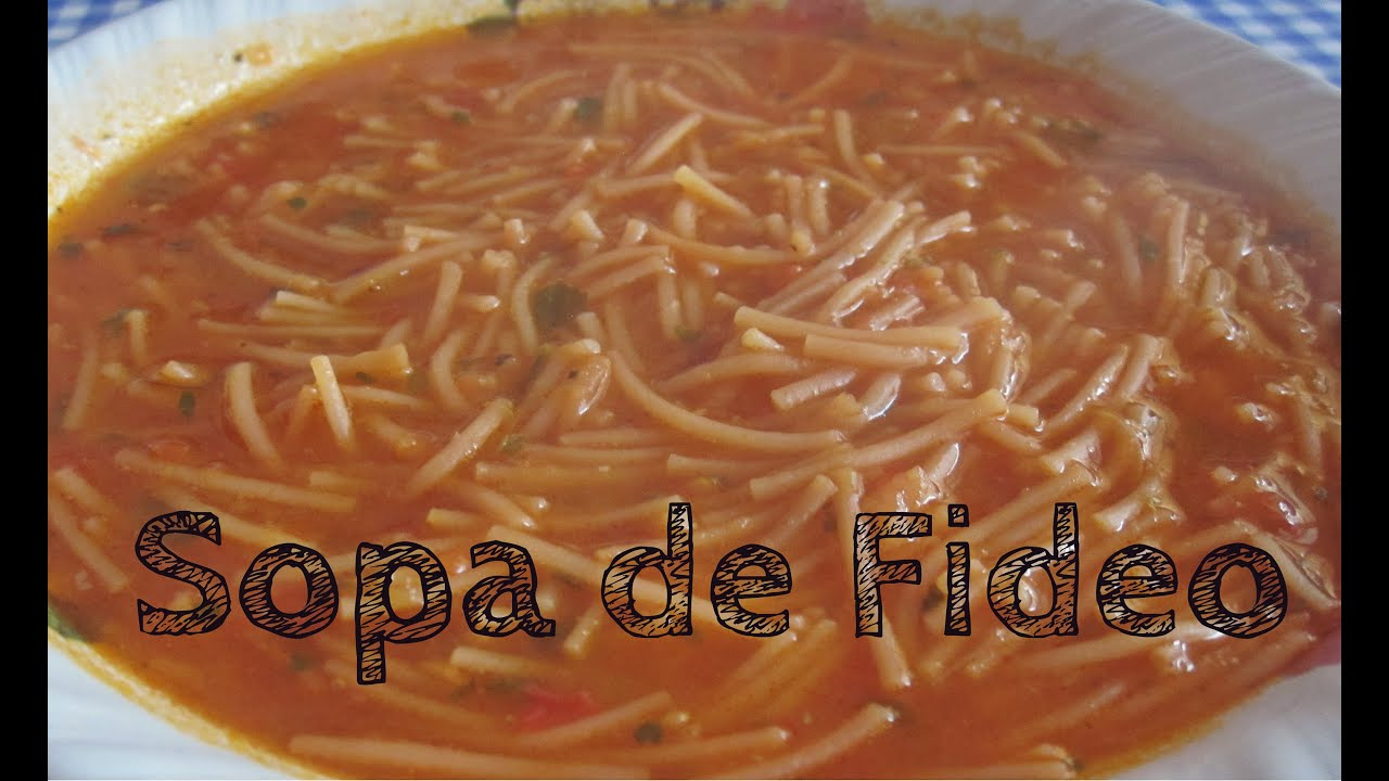 como hacer sopa de fideo facil y rica youtube