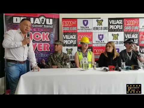 VILLAGE PEOPLE EN LIMA - CONFERENCIA DE PRENSA (Video Completó)
