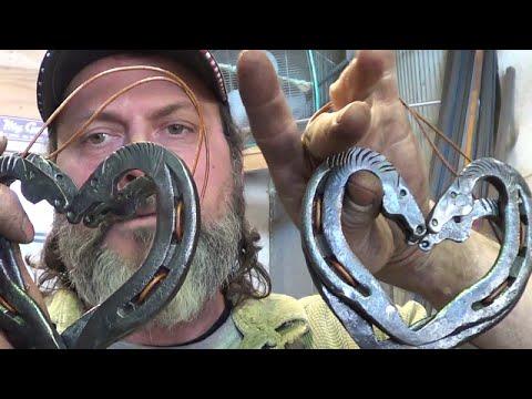 Blacksmithing - Forging Some Norway Kissing Horses Horseshoe Hearts For Julius