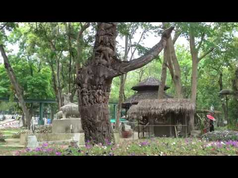 Chiang Mai, Thailand - Chiang Mai Zoo (Elaborately Carved Tree)