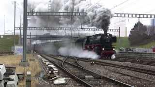 Locomotive à vapeur A 3/6 01.202 ex-DB en service les 18/19 janvier 2014