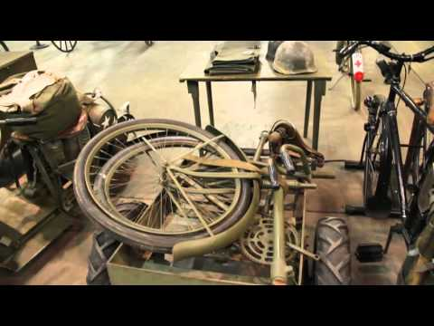 WWII Folding Military Bicycle At Denver's Forney Transportation Museum