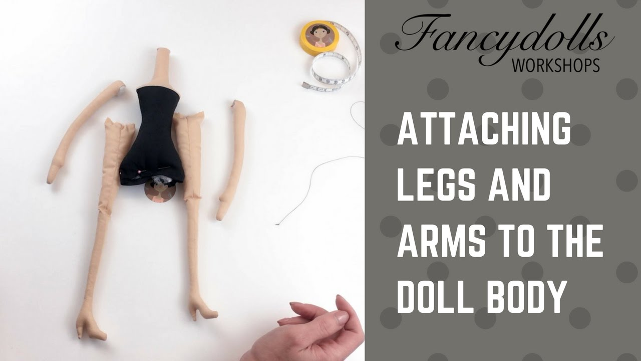 FANCYDOLLS WORKSHOPS: Присоединяем руки и ноги к телу куклы/Attaching arms and legs to the doll body