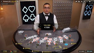1000€ VS Live Deąler Blackjack ♣️