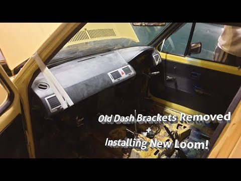 FULL VELOCITI INTERIOR CONVERSION PART 6 - Removing Old Dash Brackets & Installing New Loom!
