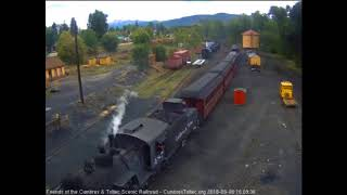9/6/2018 Seven car train 215 arrives into Chama, NM
