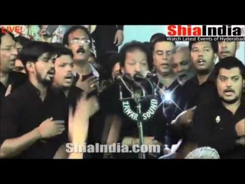 8th Muharram Anjuman e Hyderia Matam at Bargah 1437 2015 16