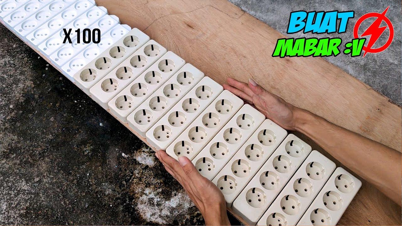 BIKIN 100 COLOKAN STOP KONTAK LISTRIK (100 Plugs Electrical Power Outlet)