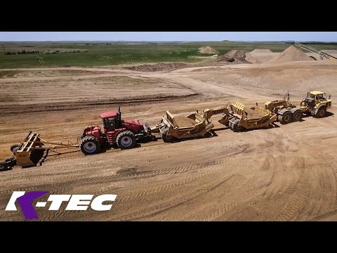 Various K-Tec Earthmoving Machinery On Gravel Pit Project