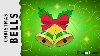 How to draw Christmas Bells — Weihnachtsglocken zeichnen